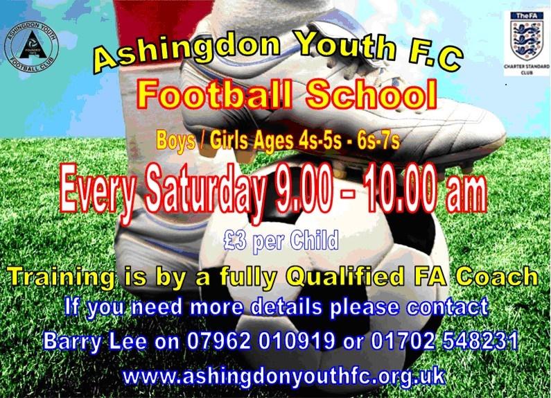 Ashingdon Youth Football Club - Soccer School